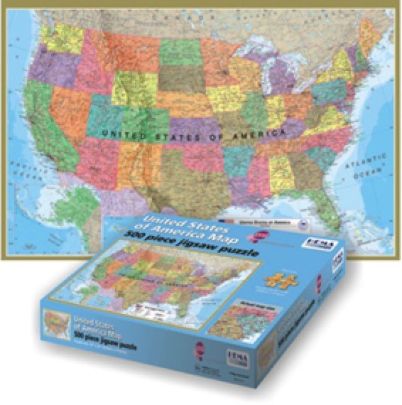 Maps International USA 500 Piece Jigsaw Puzzle