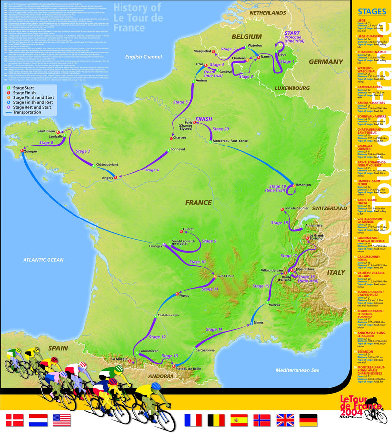 Tour de France 2004 Poster from Maps.com