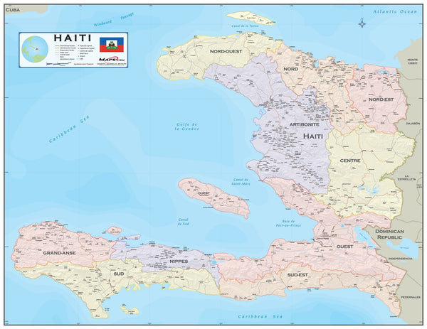 Haiti Wall Map