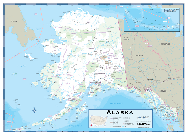 Alaska Highway Wall Map