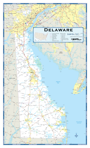 Delaware Highway Wall Map