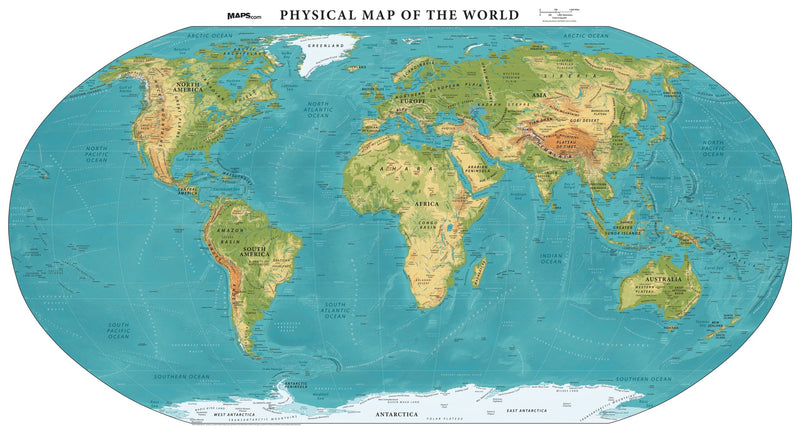 Physical Map of the World - Elevation