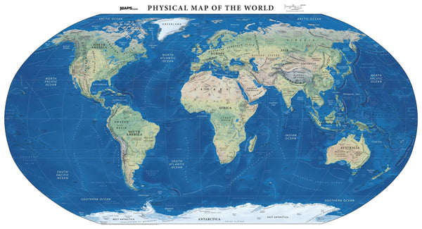 Physical Map of the World - Land Cover