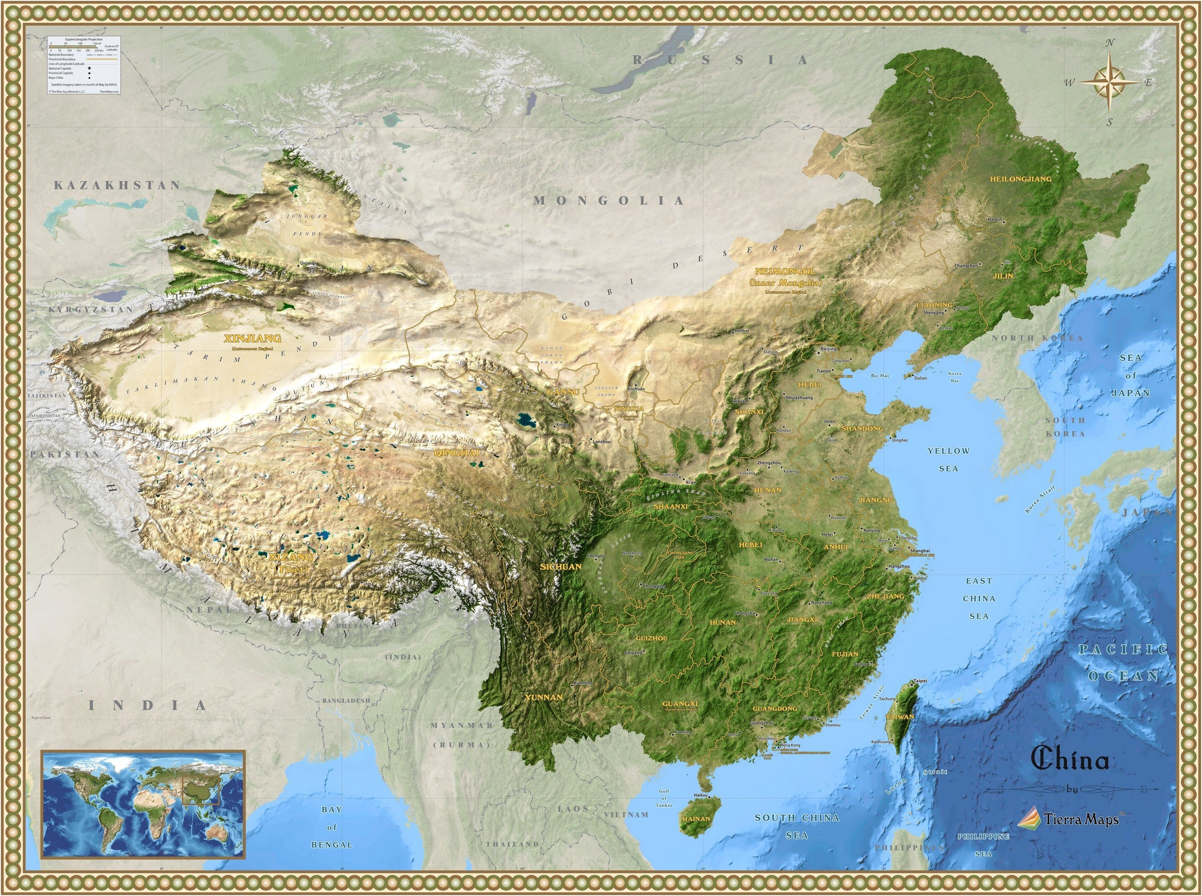 China Satellite Wall Map on asia of china, topographic map of china, map all rivers in china, road map of china, google earth china, map of russia and china, shopping of china, atlas of china, tourism of china, precipitation map of china, political map of china, large detailed maps of china, elevation map of china, aerial view of china, physical map of north china, google maps china, sixy of china, u.s. consulate guangzhou china, terracotta warriors of china, vintage map of china,