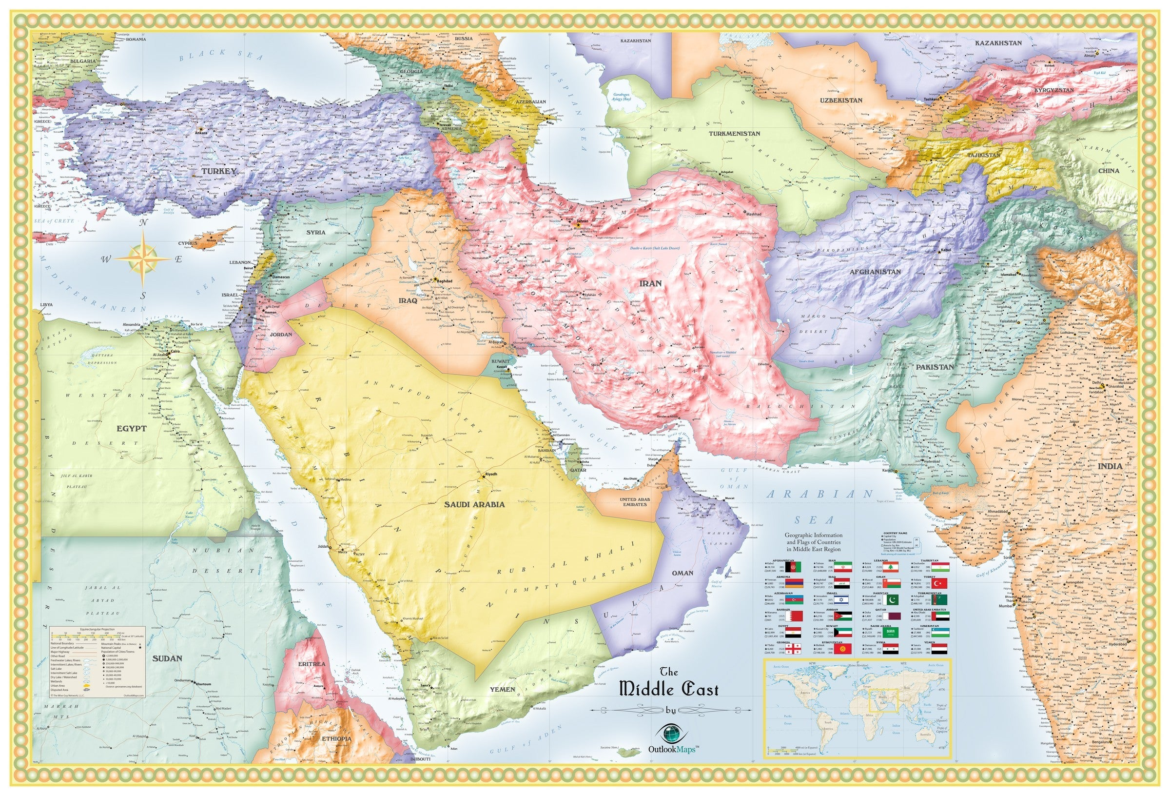 Picture of: Middle East Political Wall Map Maps Com Com