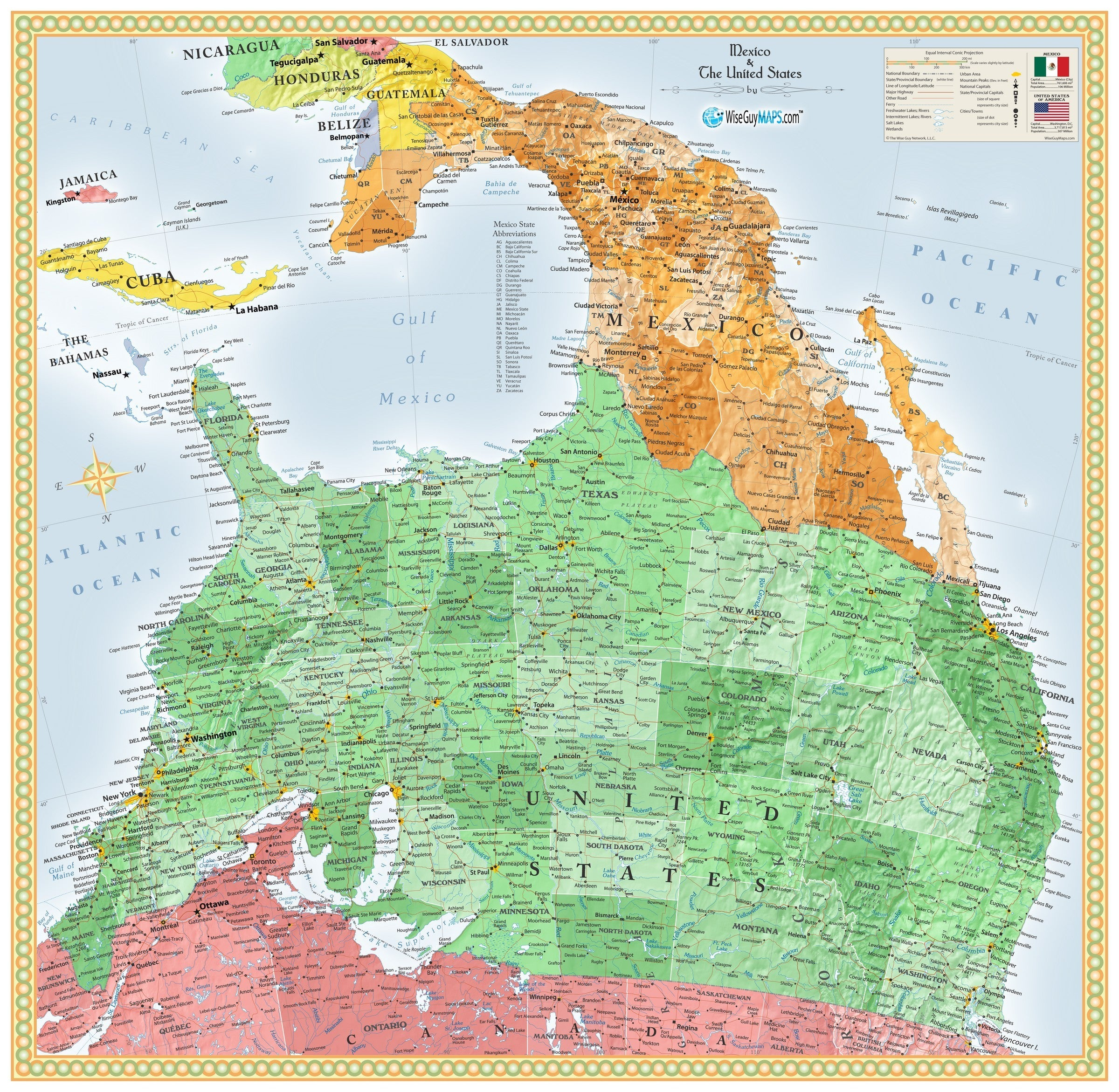 Picture of: Upside Down Usa And Mexico Wall Map Maps Com Com