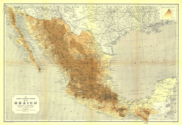 Mexico Map 1911