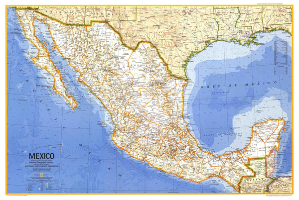 Mexico Map 1973