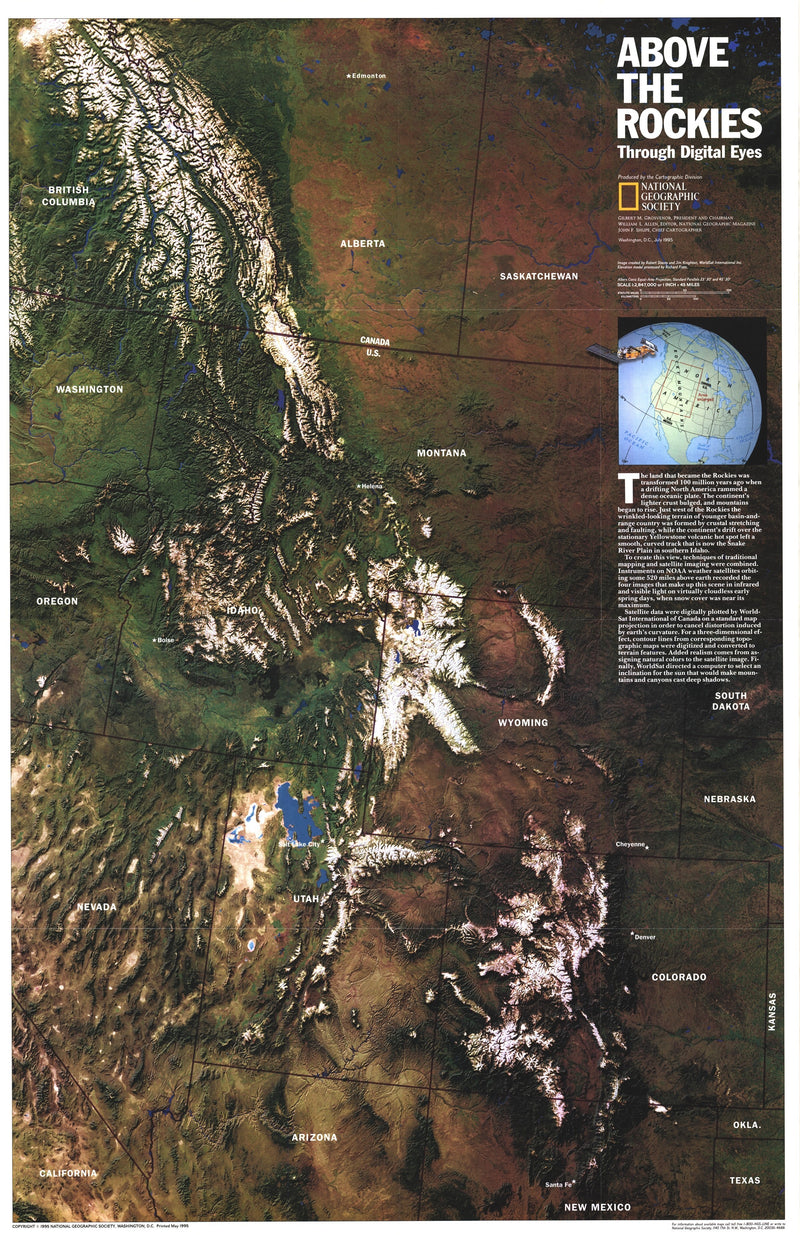 Above The Rockies Map 1995