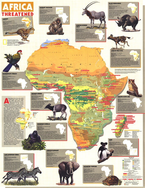 Africa Threatened Map 1990