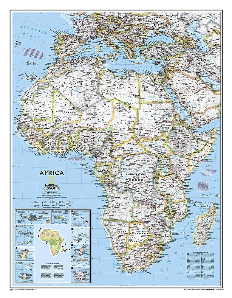 National Geographic Africa Wall Map