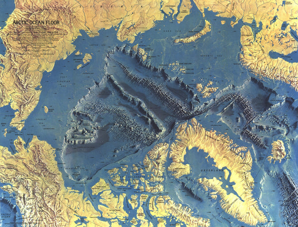Arctic Ocean Floor Map 1971