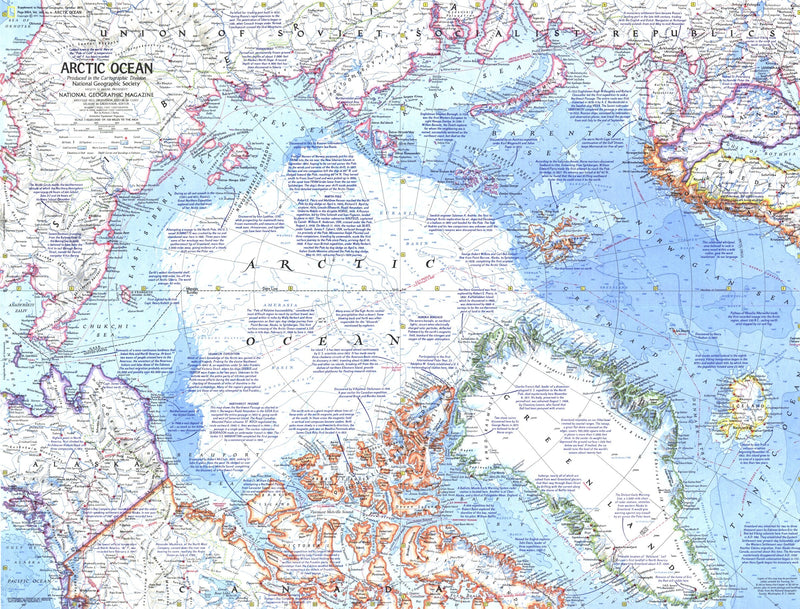 Arctic Ocean Map 1971