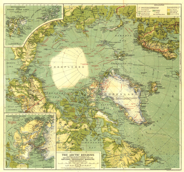 Arctic Regions Map 1925