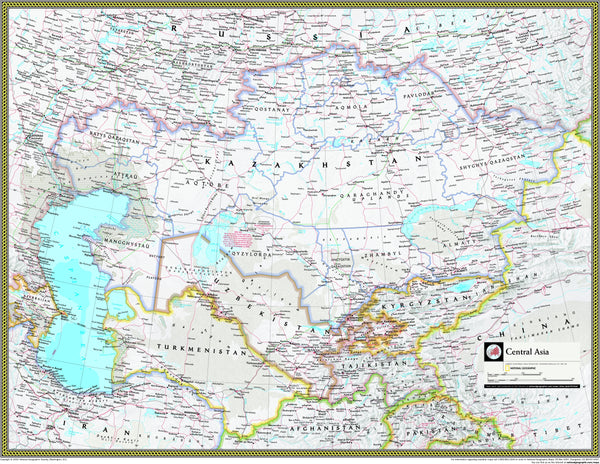 National Geographic Central Asian Republics Wall Map