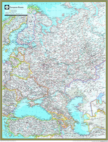 National Geographic European Russia Wall Map