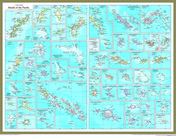 National Geographic Islands of the Pacific Wall Map