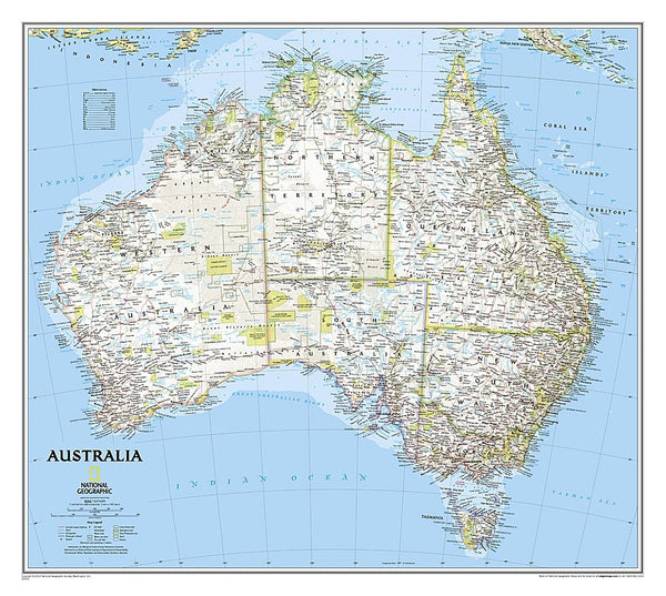 National Geographic Australia Wall Map