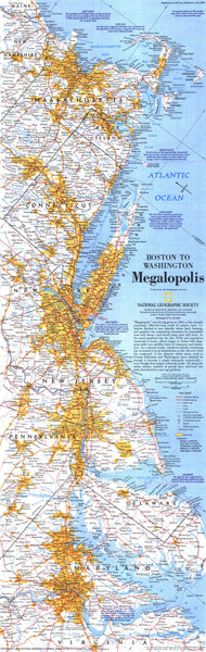 Boston To Washington Megalopolis Map