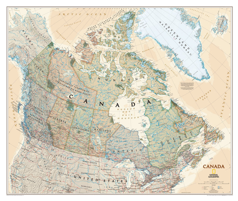 National Geographic Canada Executive Wall Map