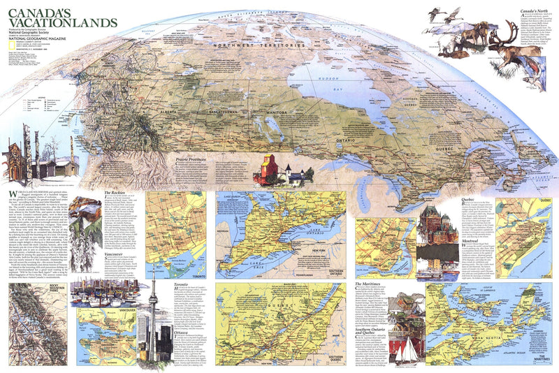 Canada Vacationlands Map 1985