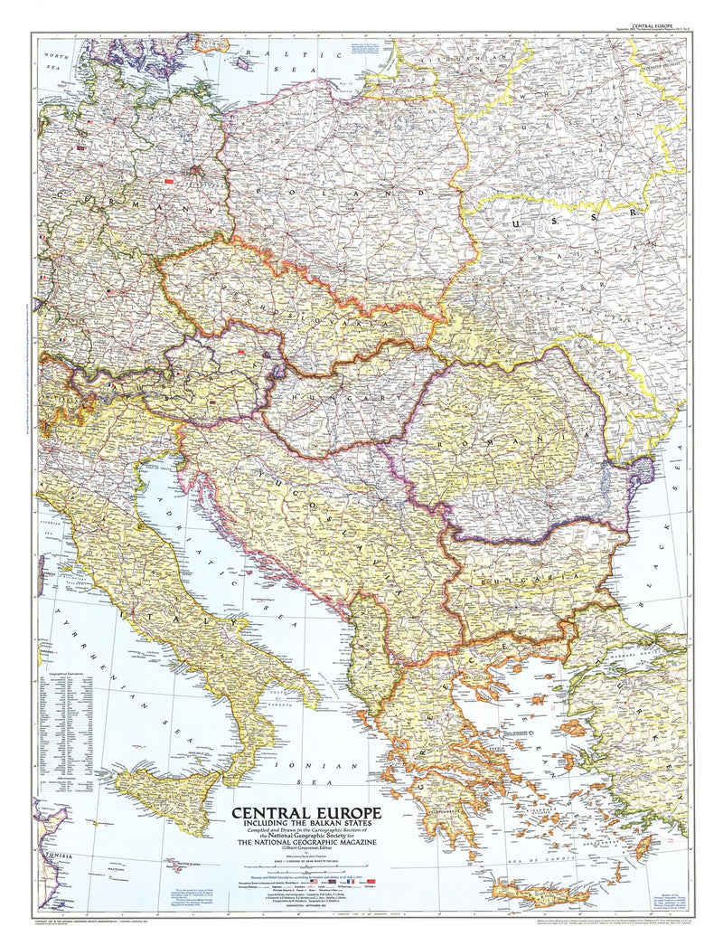 Central Europe Map 1951