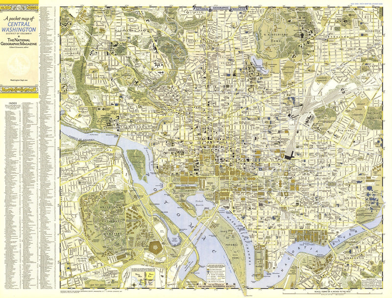 Central Washington, District Of Columbia Map 1948