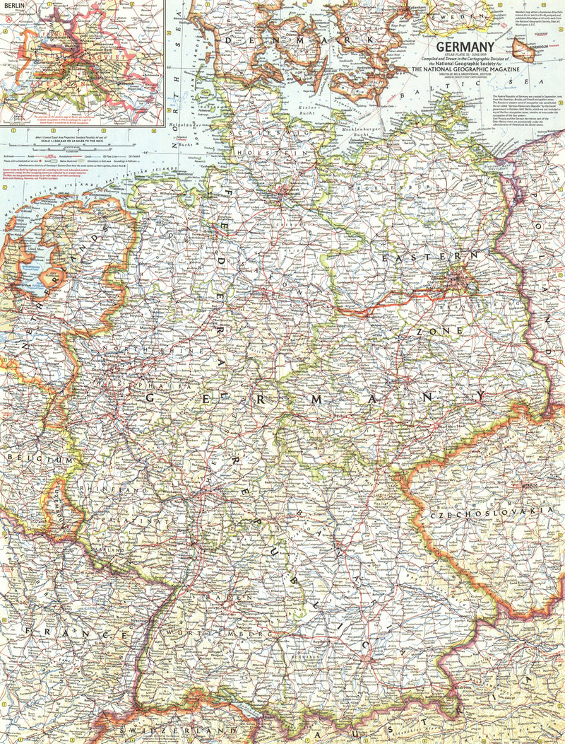 Germany Map 1959