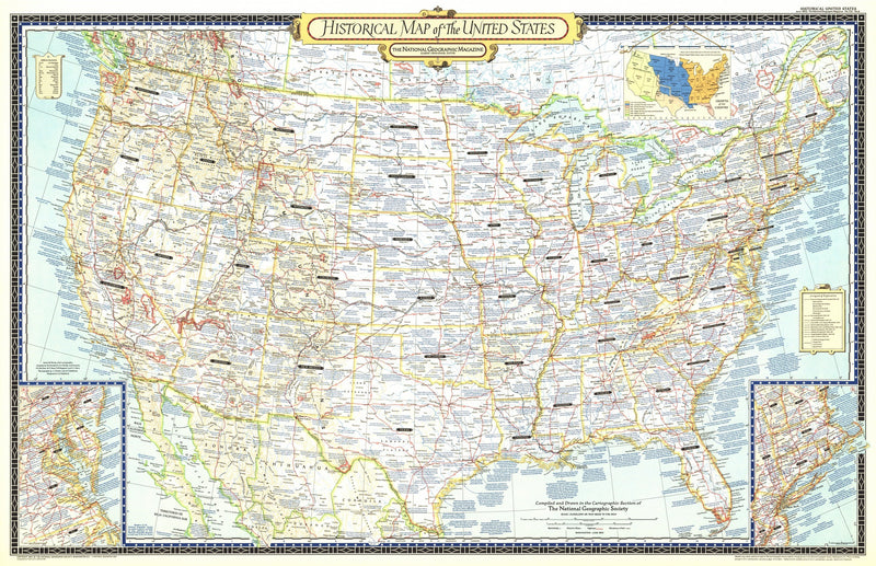 Historical Map Of The United States Map 1953