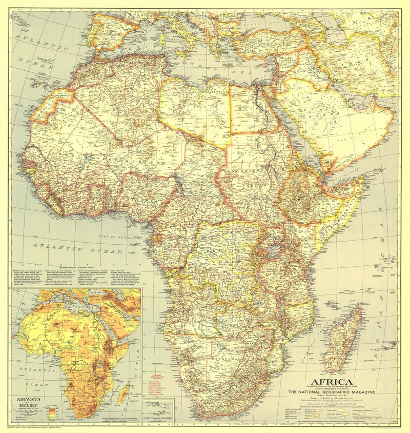 Africa Map 1935