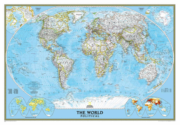 National Geographic Classic World Wall Map