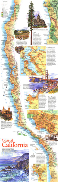 Coastal California Map 1993