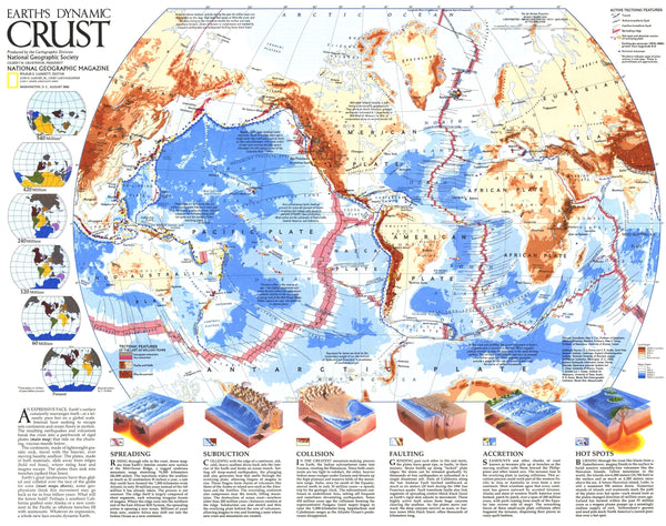 Earths Dynamic Crust Map