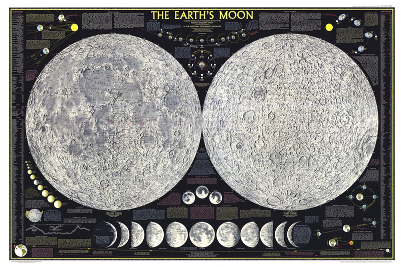 Earths Moon Map 1969