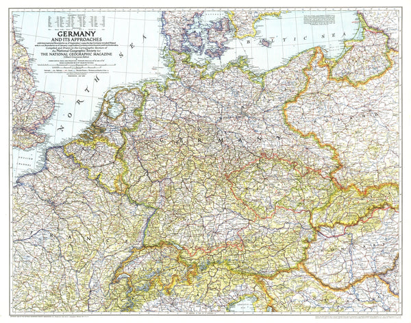 Germany And Its Approaches Map 1938-39