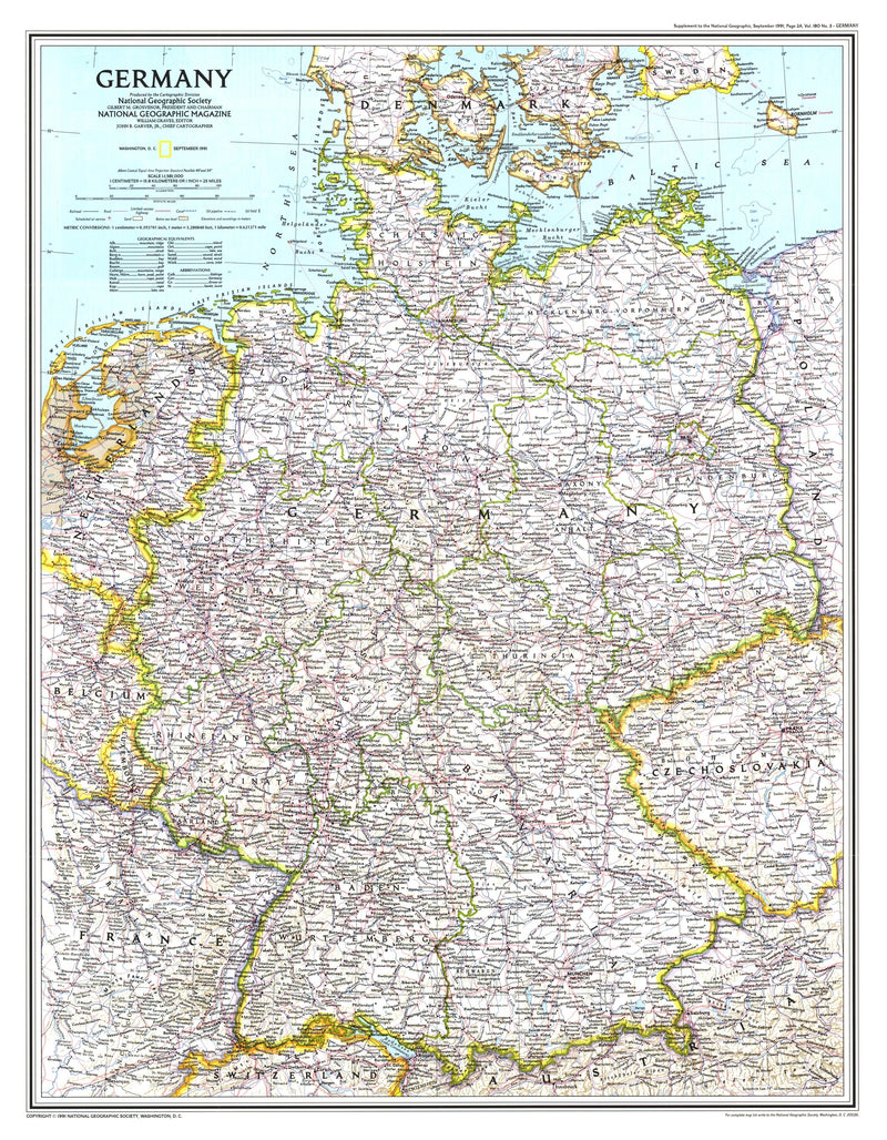 Germany Map 1991