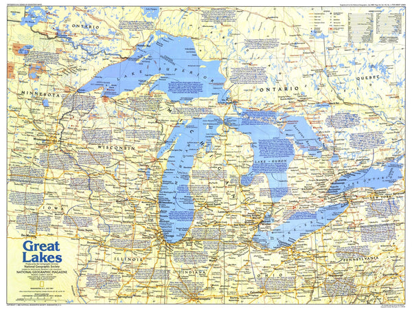 Great Lakes Map 1987 Side 1