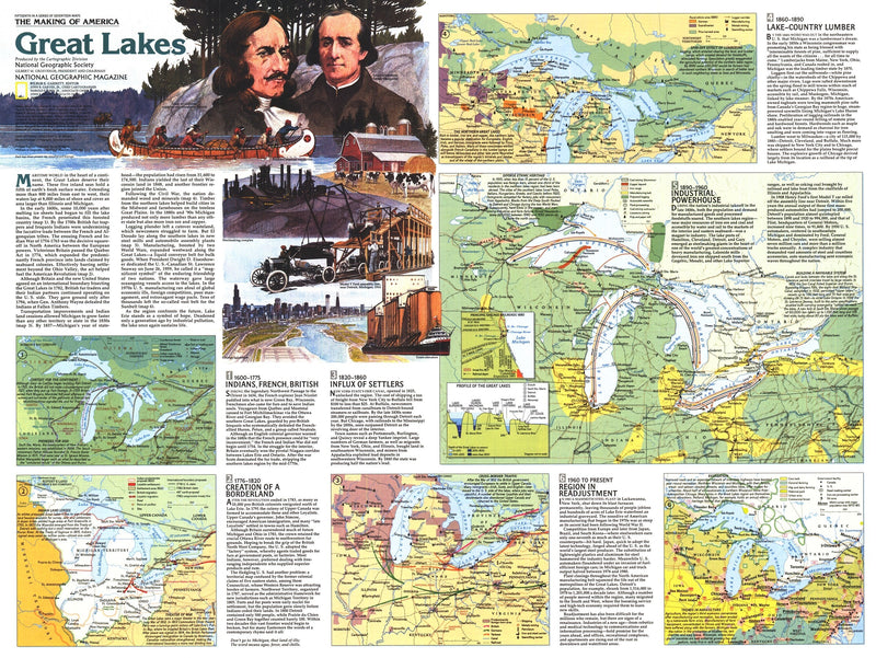 Great Lakes Map 1987 Side 2
