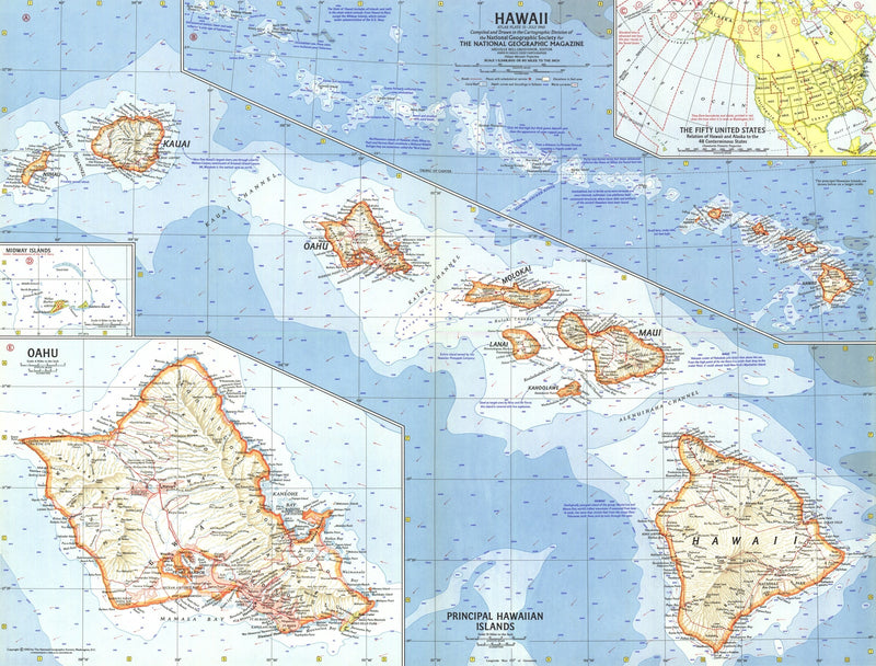 Hawaii Map 1960