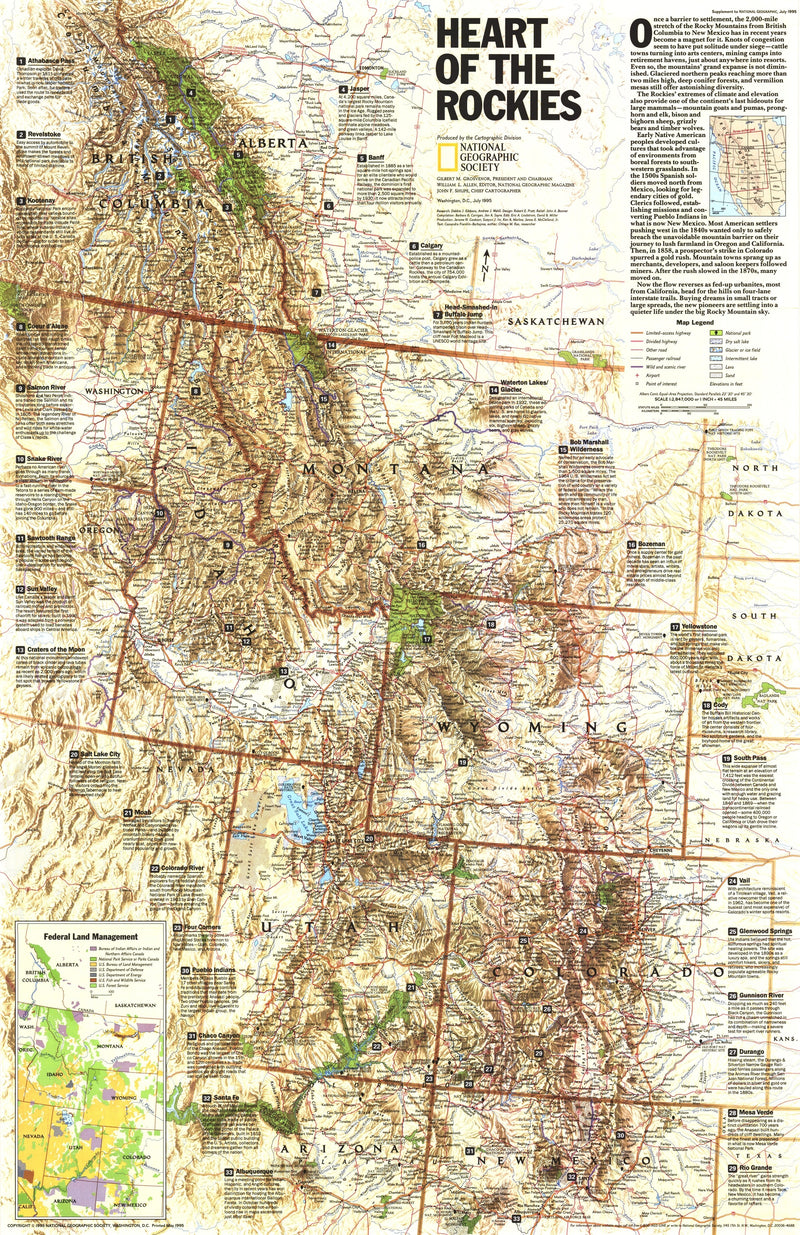 Heart Of The Rockies Map 1995
