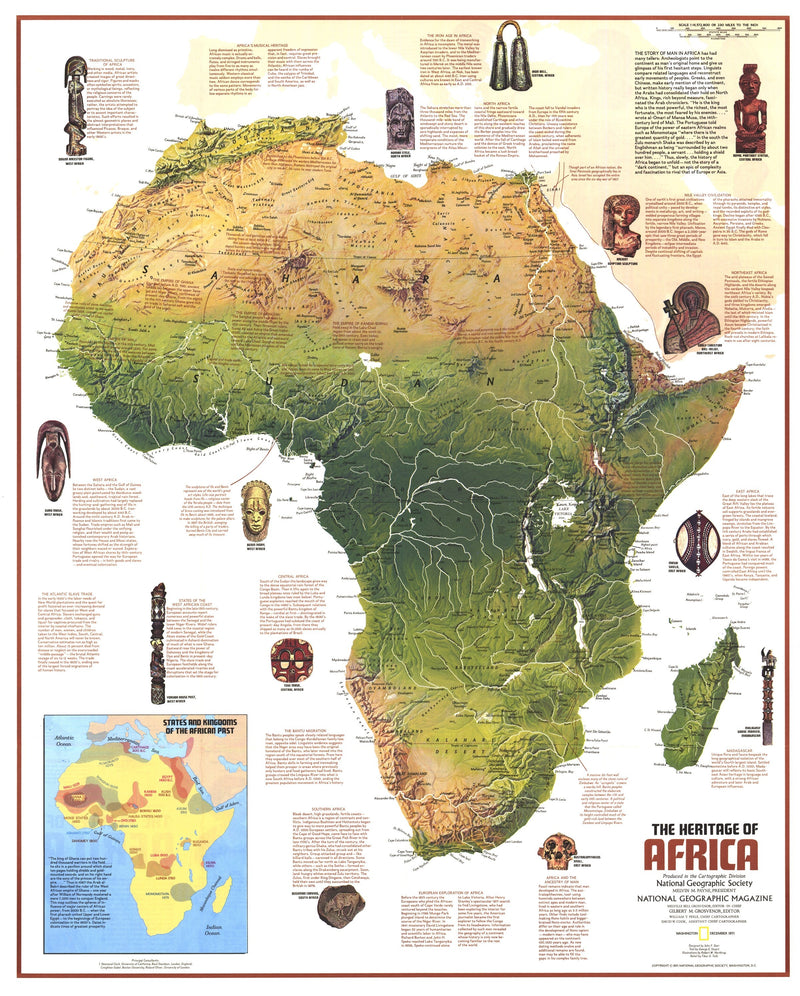 Heritage Of Africa Map 1971