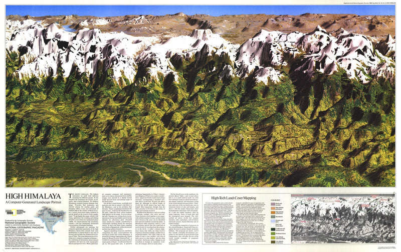 High Himalaya Map 1988