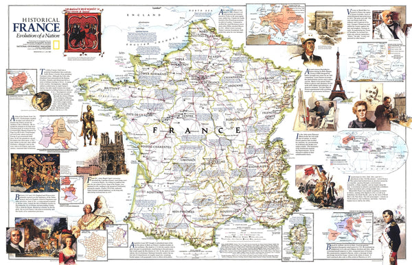 Historical France Map 1989