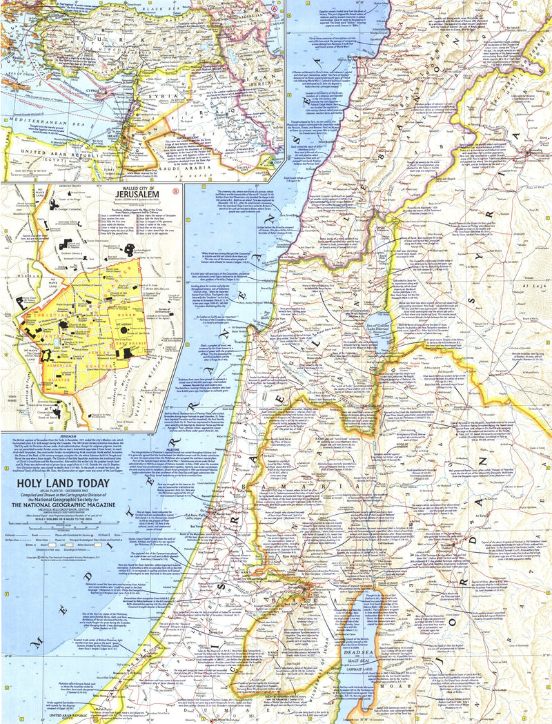 Holy Land Today Map 1963