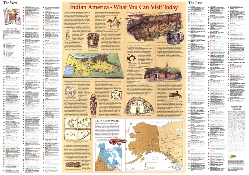 Indian America Map 1991