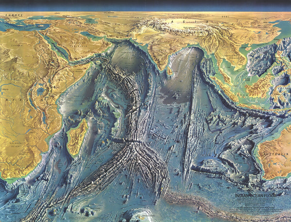 Indian Ocean Floor Map 1967