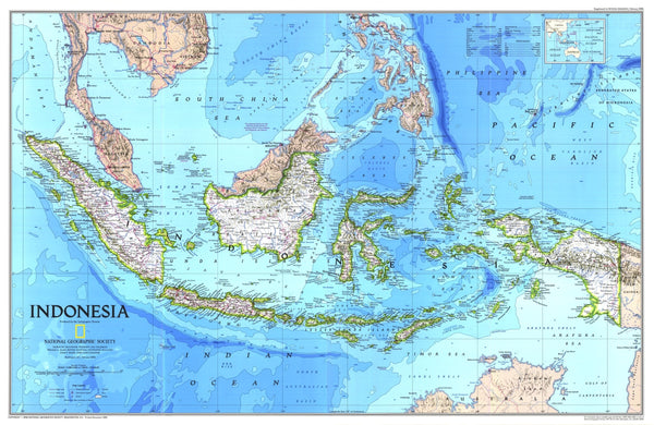 Indonesia Map 1996 Side 1
