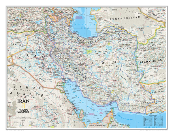 National Geographic Iran Wall Map