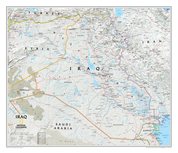 National Geographic Iraq Wall Map