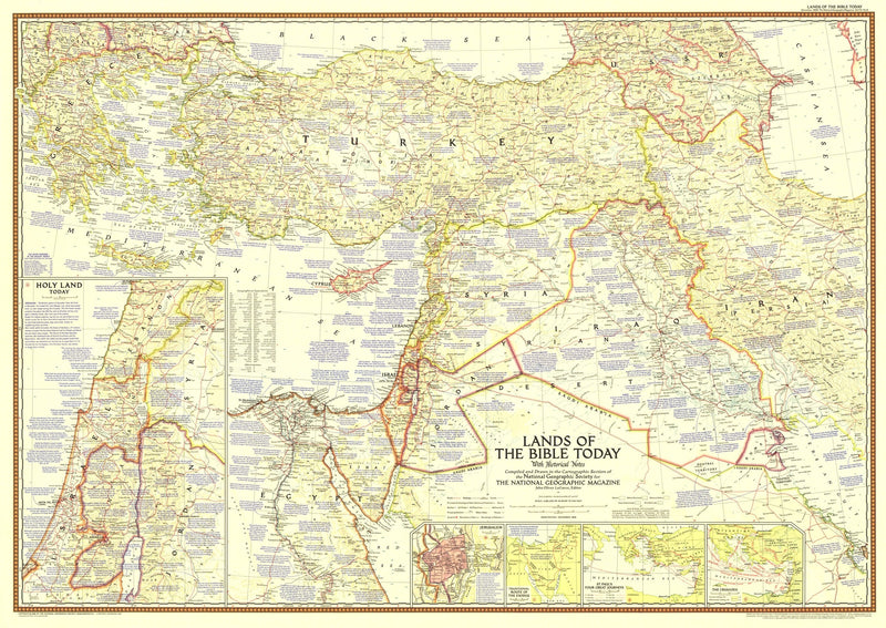 Lands Of The Bible Today Map 1956